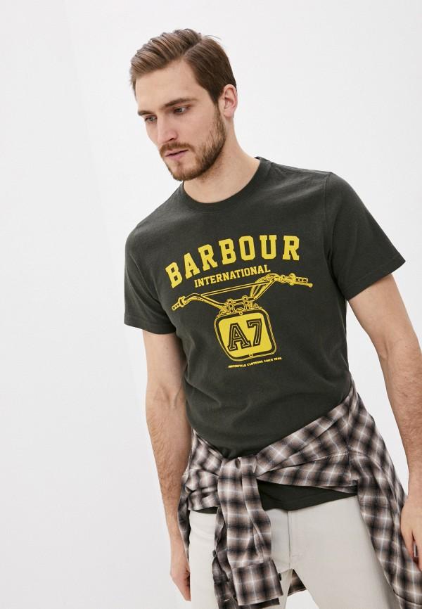 мужская футболка с коротким рукавом barbour, хаки