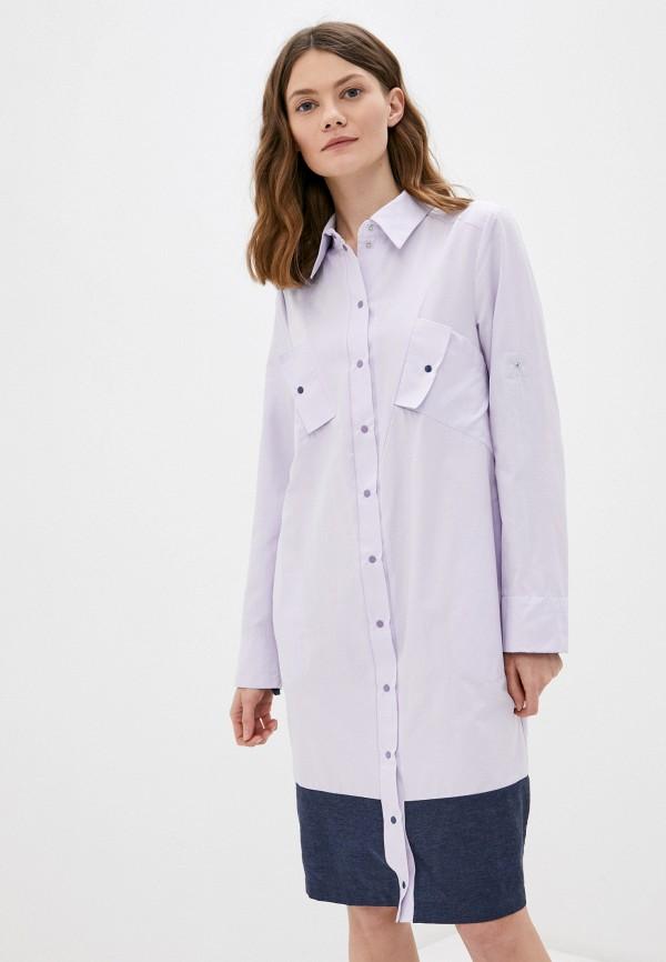 женское платье-рубашки adzhedo, фиолетовое