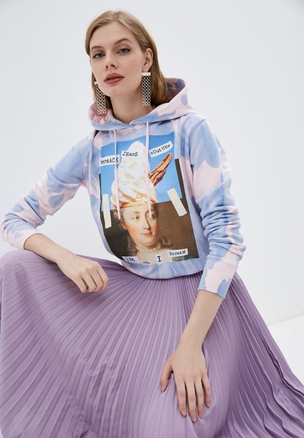 женские худи versace, голубые