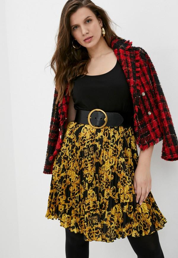 женское платье versace, черное