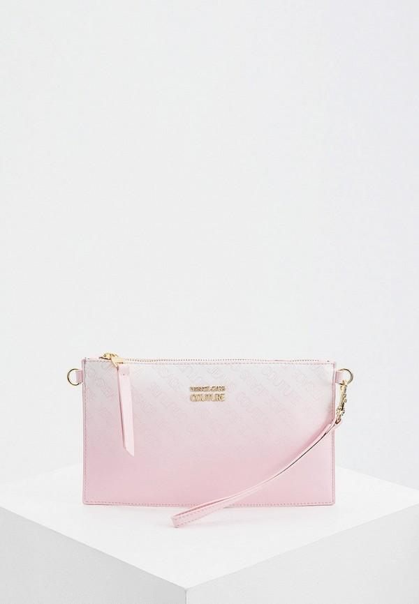 женский клатч versace, розовый