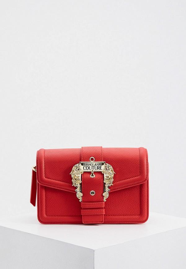 женская сумка через плечо versace, красная