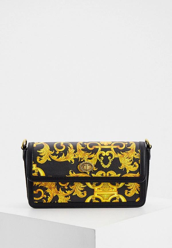 женская сумка с ручками versace, черная