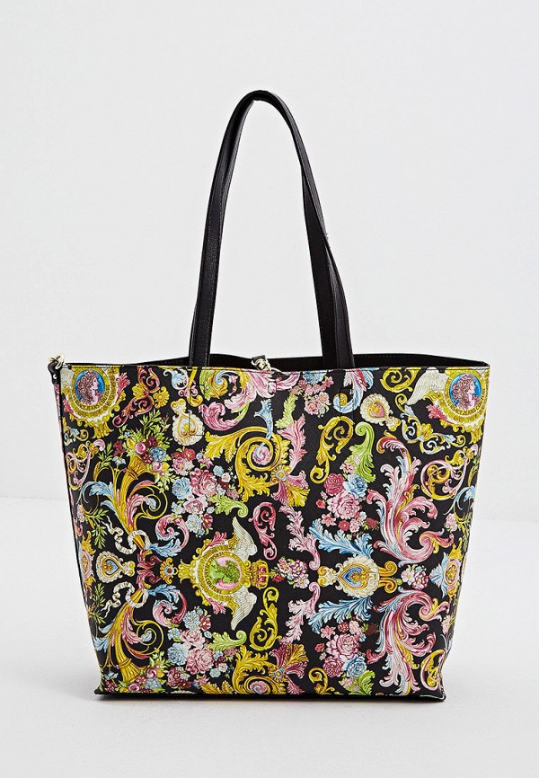 женская сумка-шоперы versace, черная