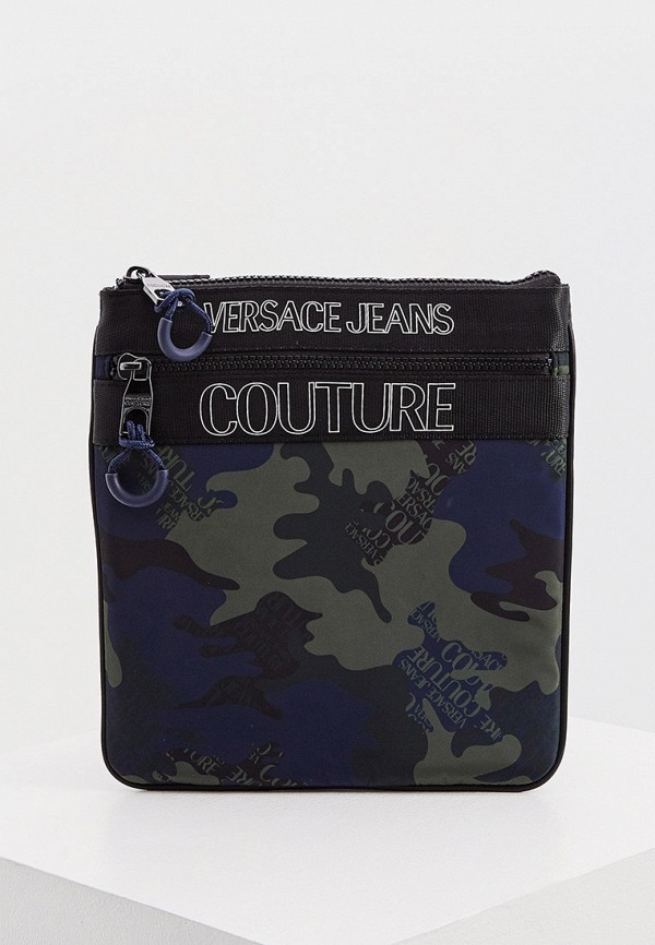 мужская сумка через плечо versace, хаки