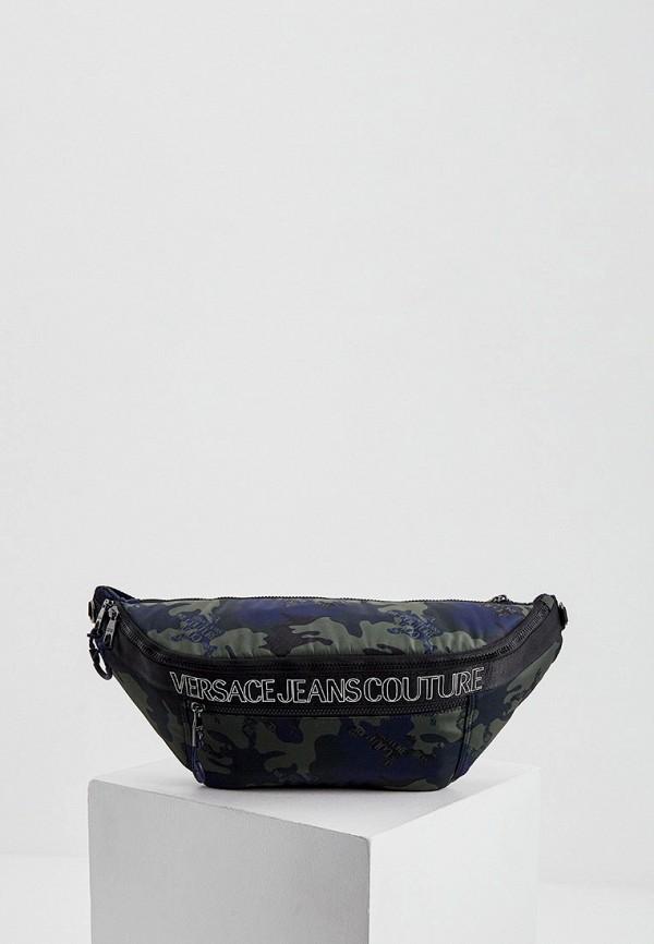 мужская поясные сумка versace, разноцветная