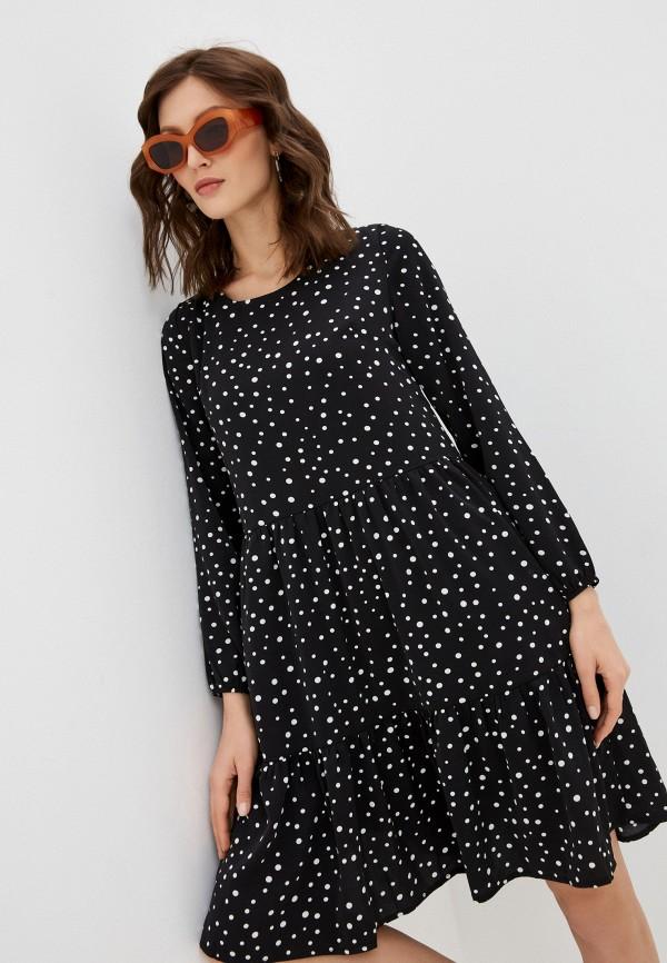 женское повседневные платье hey look, черное