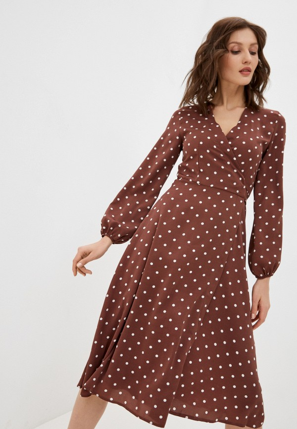женское платье hey look, коричневое