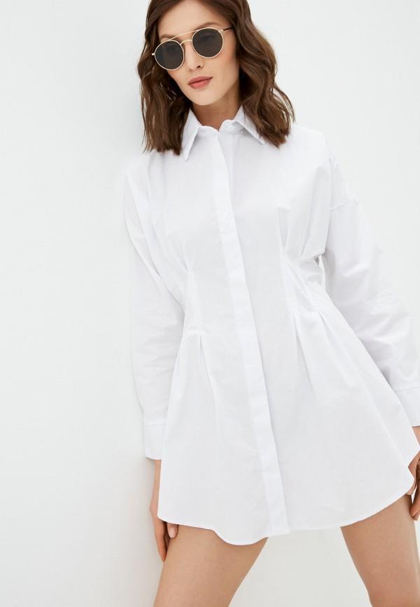 женская рубашка с длинным рукавом hey look, белая