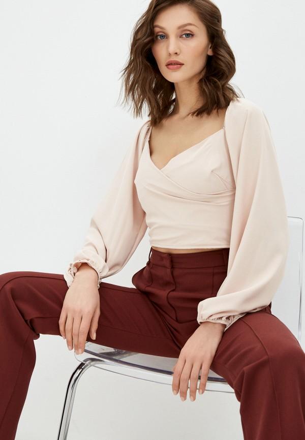 женская блузка hey look, розовая