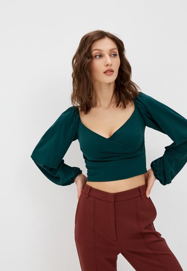 женская блузка hey look, зеленая