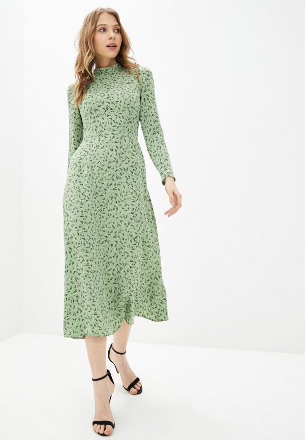 женское повседневные платье hey look, зеленое