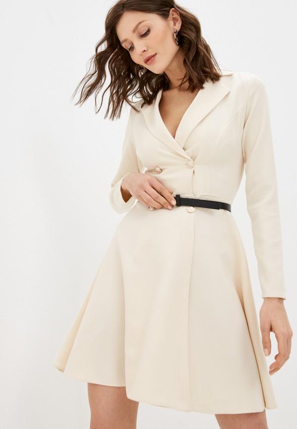 женское платье hey look, бежевое
