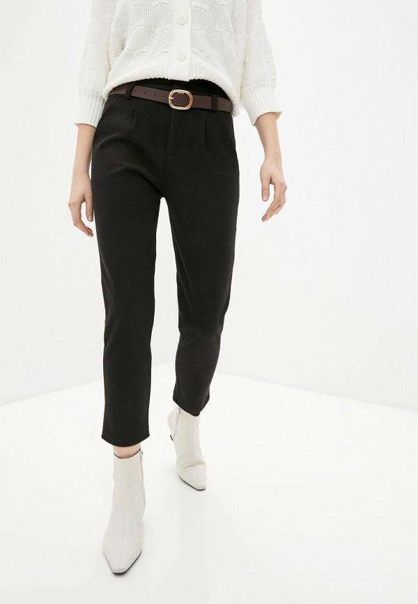 женские классические брюки hey look, черные