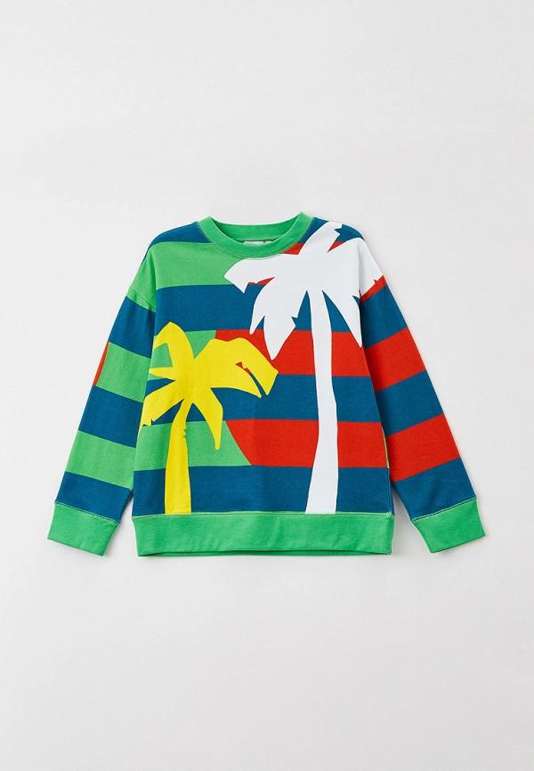 свитшот stella mccartney для мальчика, разноцветный