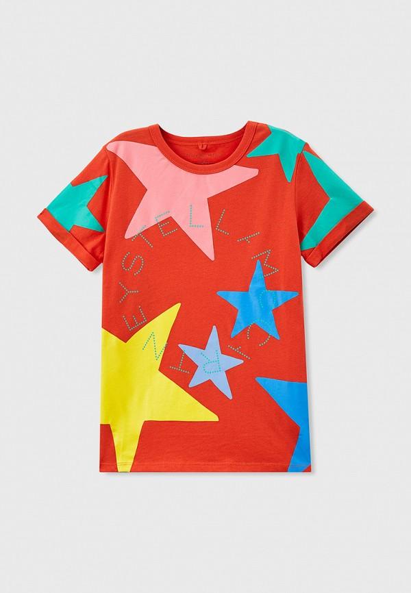 футболка с коротким рукавом stella mccartney для девочки, красная