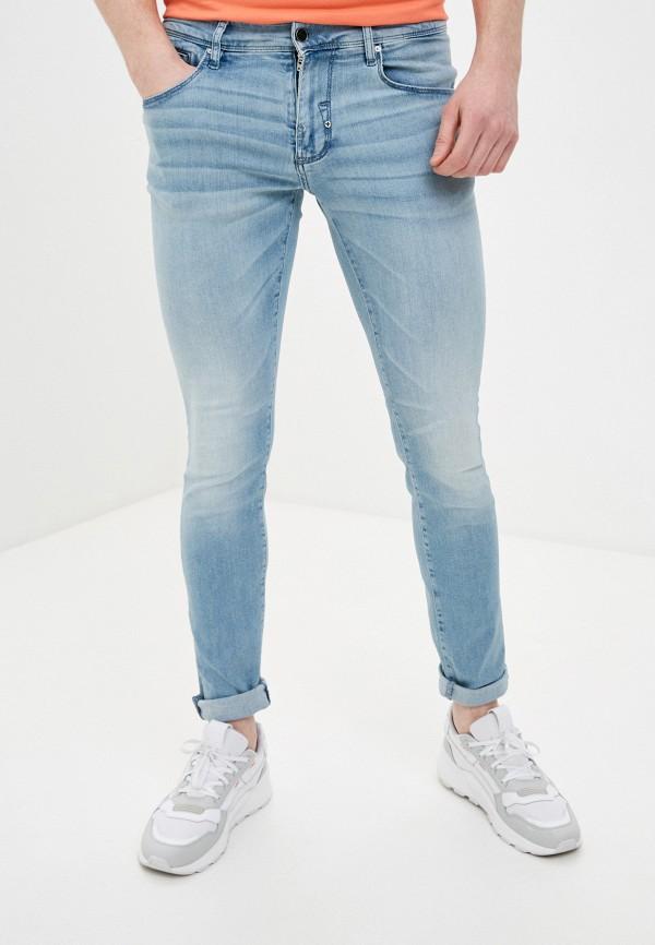 мужские зауженные джинсы antony morato, голубые