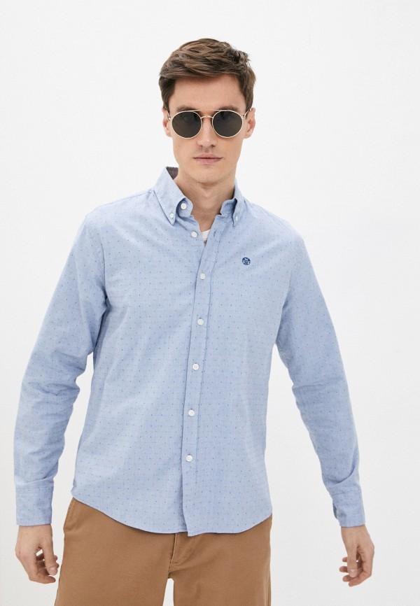мужская рубашка с длинным рукавом north sails, голубая