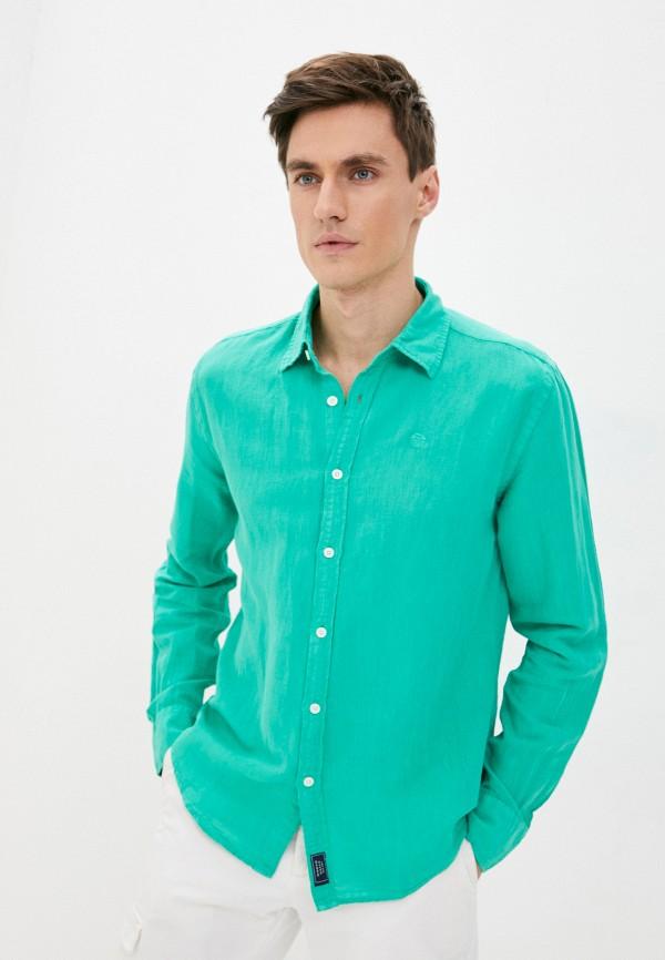 мужская рубашка с длинным рукавом north sails, зеленая