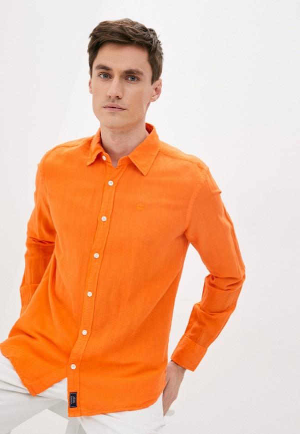мужская рубашка с длинным рукавом north sails, оранжевая