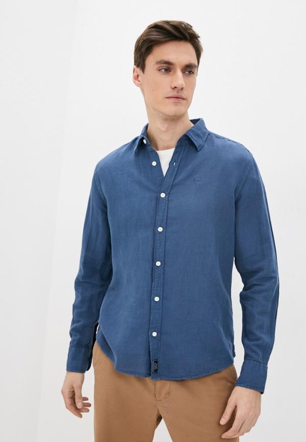 мужская рубашка с длинным рукавом north sails, синяя