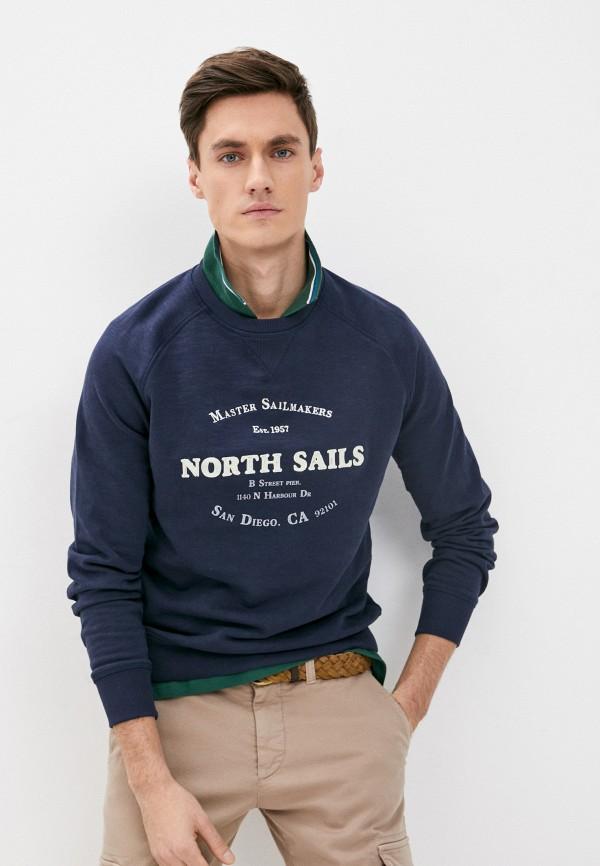 мужской свитшот north sails, синий