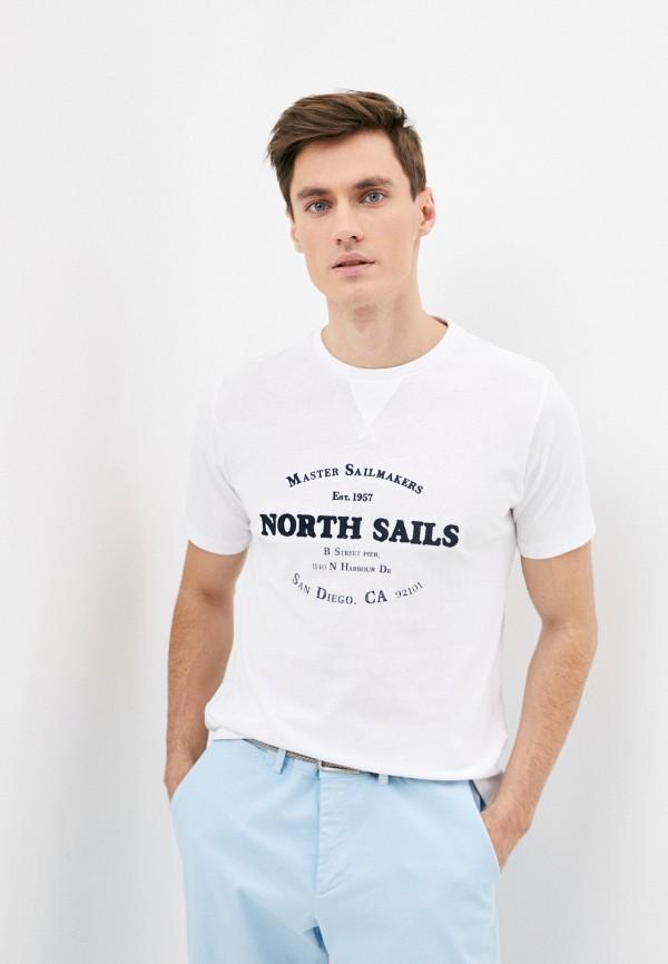 мужская футболка north sails, белая