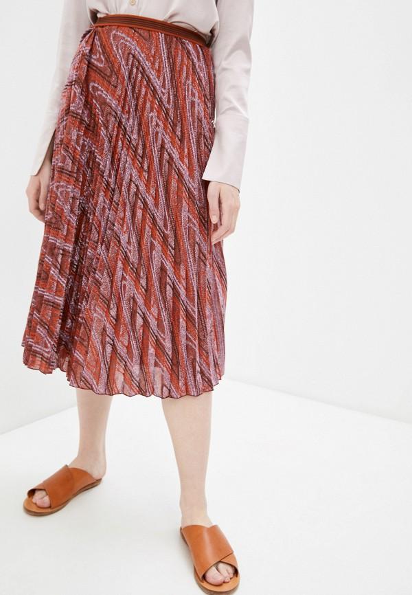 женская плиссированные юбка m missoni, разноцветная
