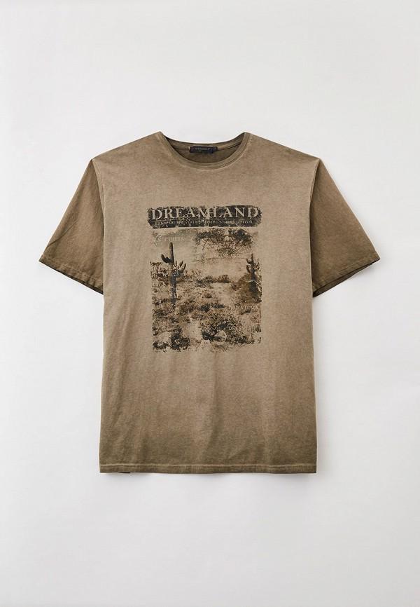 мужская футболка maxfort, бежевая