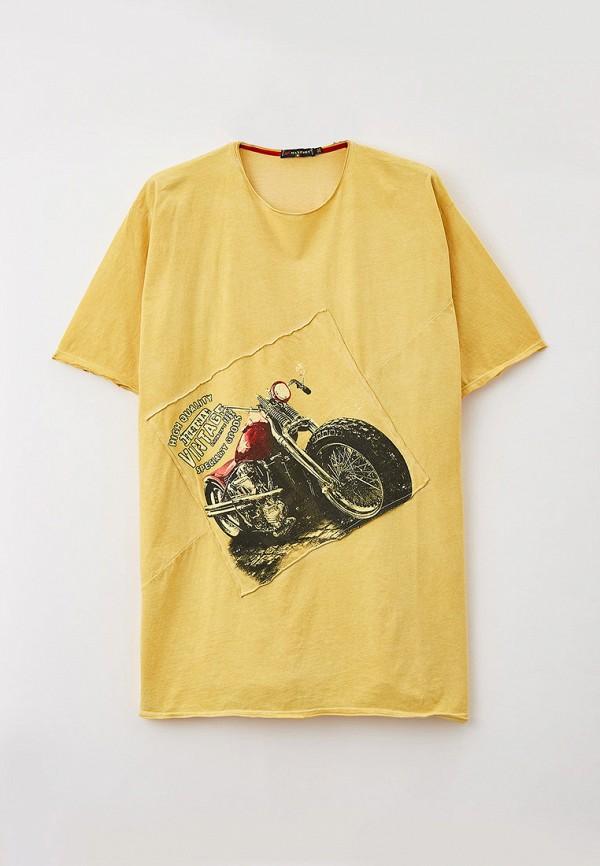 мужская футболка maxfort, желтая