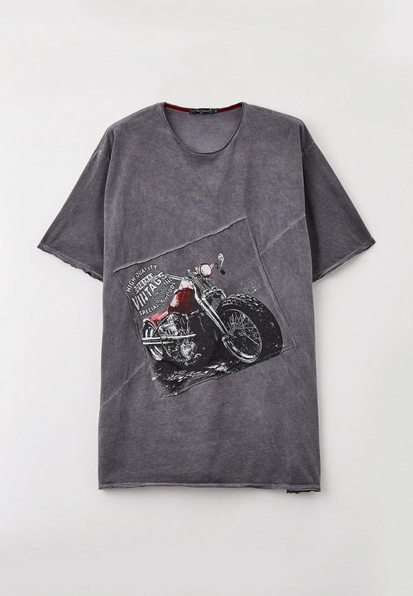 мужская футболка maxfort, серая