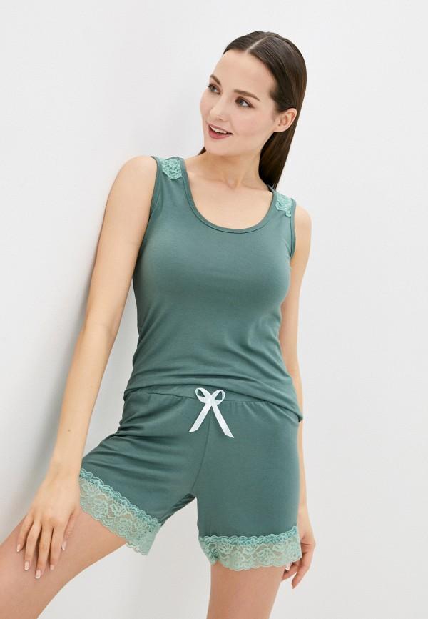 женский костюм rene santi, зеленый