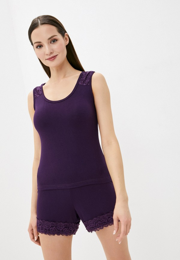женский костюм rene santi, фиолетовый
