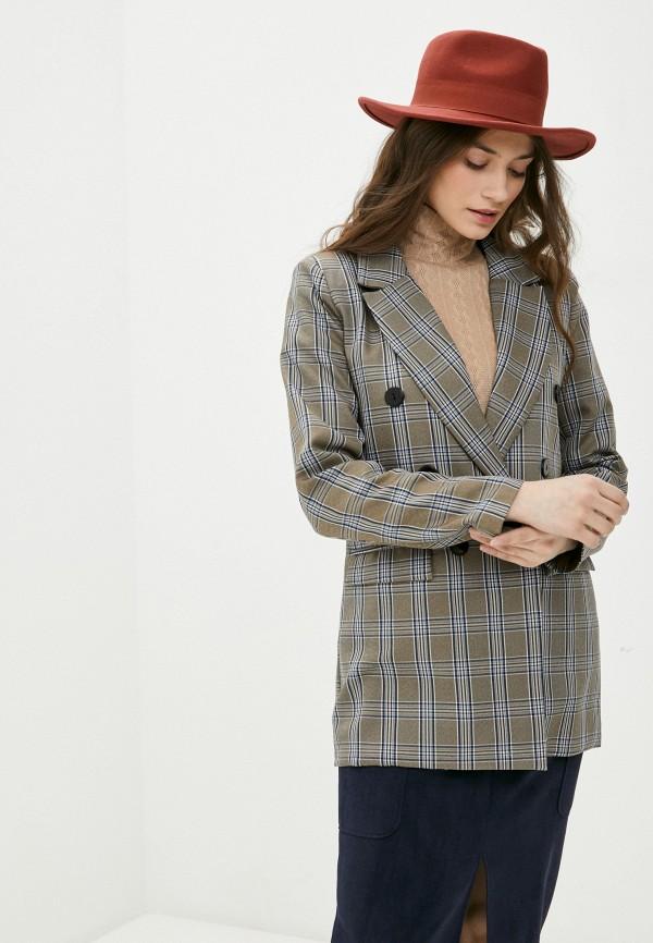женский пиджак rene santi, коричневый