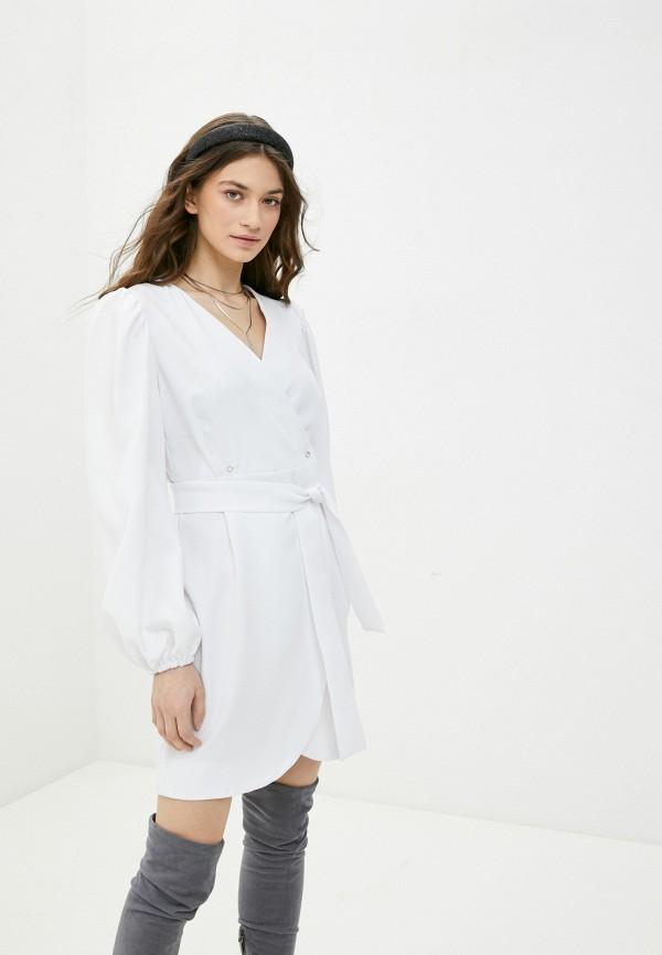 женское платье с запахом rene santi, белое