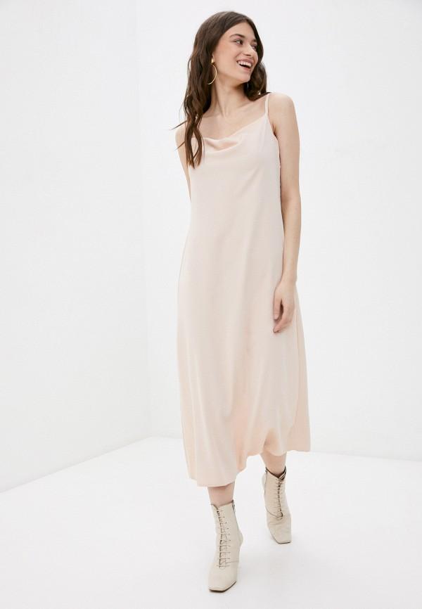 женское платье-комбинация rene santi, бежевое