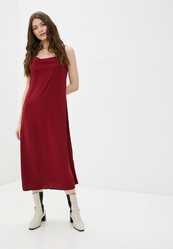 женское платье-комбинация rene santi, красное