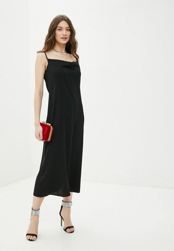 женское платье-комбинация rene santi, черное