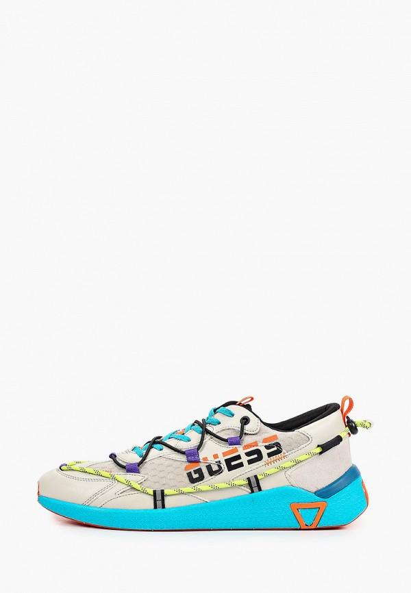мужские кроссовки guess, бежевые