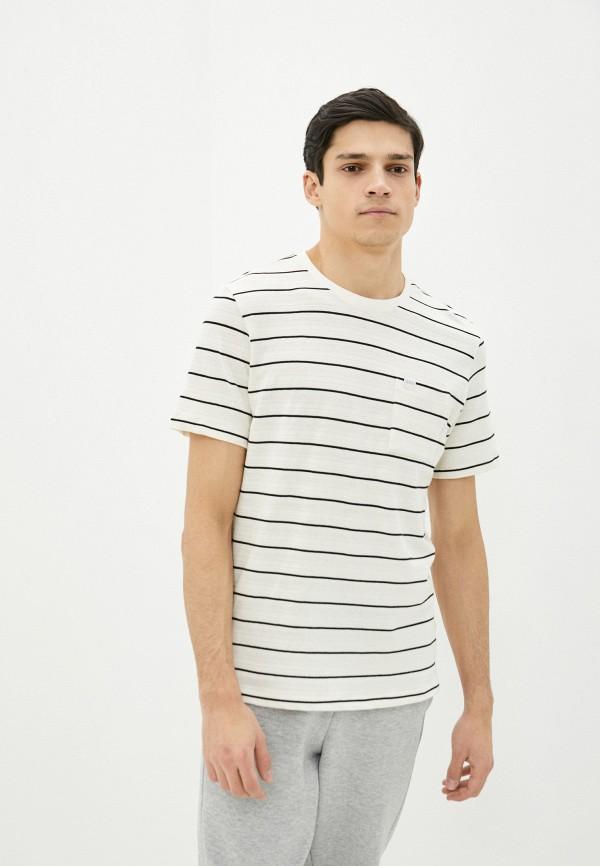 мужская футболка с коротким рукавом casual friday by blend, бежевая