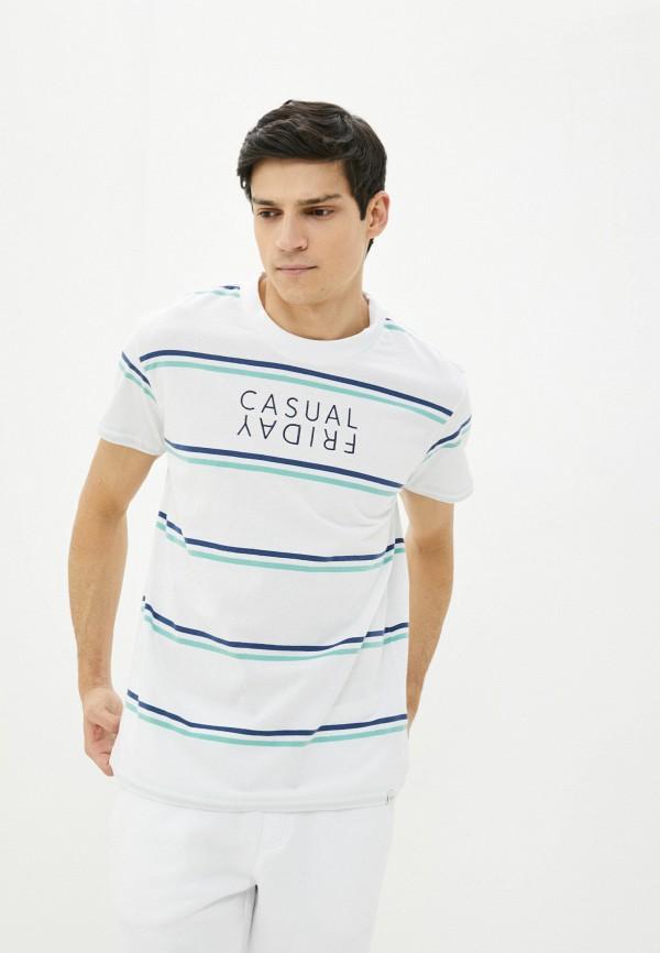 мужская футболка с коротким рукавом casual friday by blend, белая