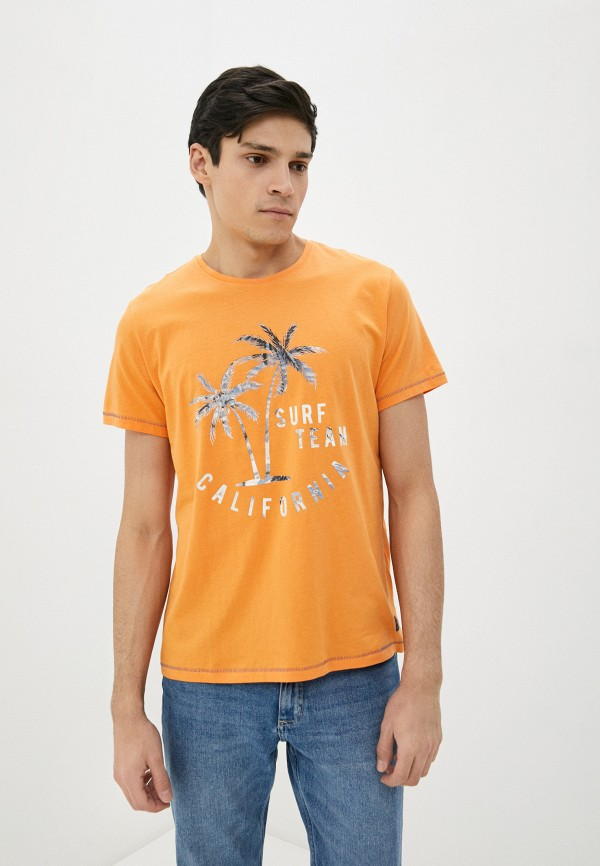 мужская футболка с коротким рукавом blend, оранжевая
