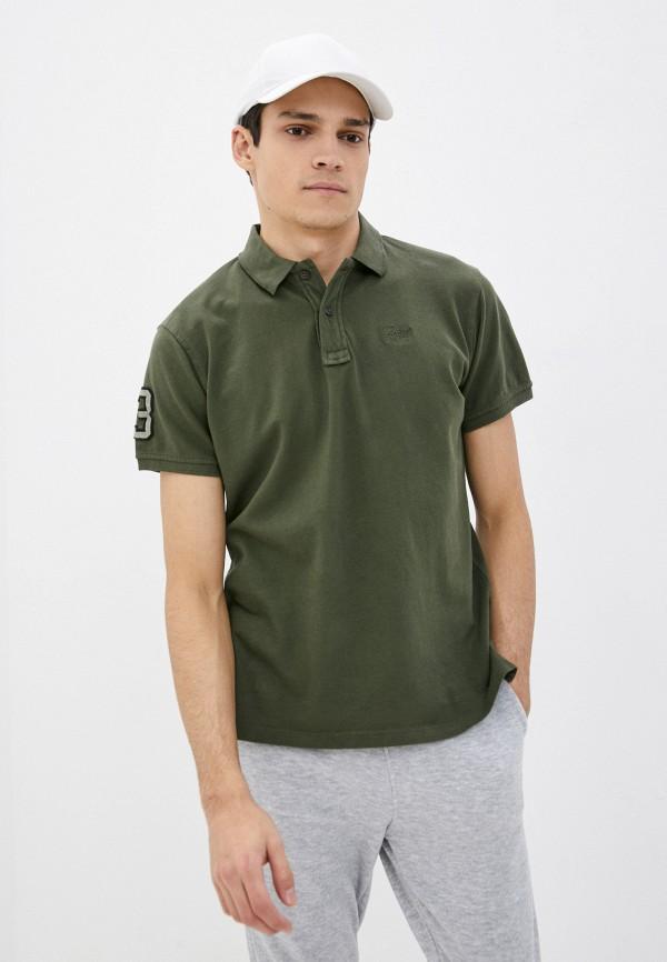 мужское поло blend, зеленое