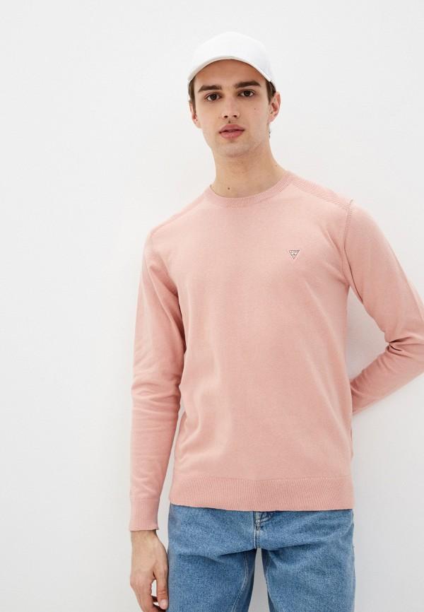 мужской джемпер guess, розовый