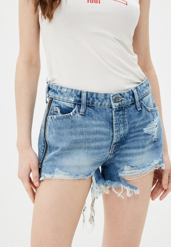 женские джинсовые шорты guess, синие