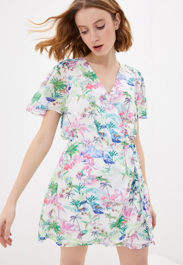 женское платье guess, белое