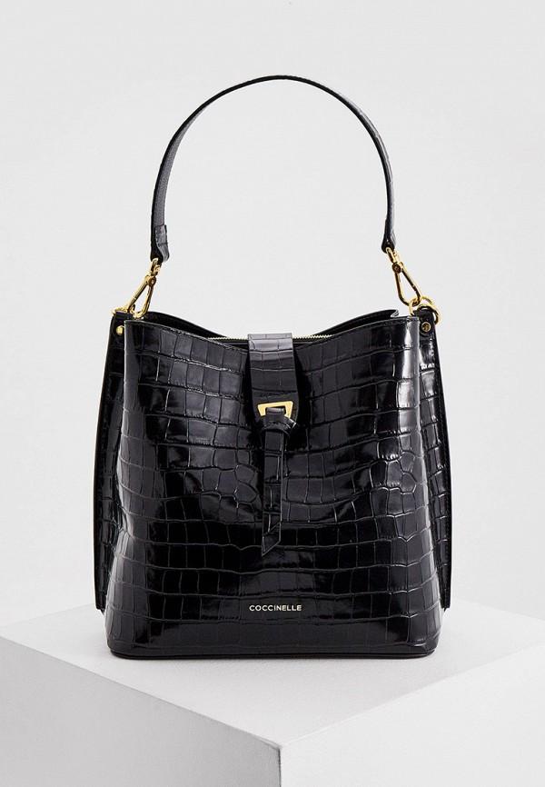 женская сумка coccinelle, черная