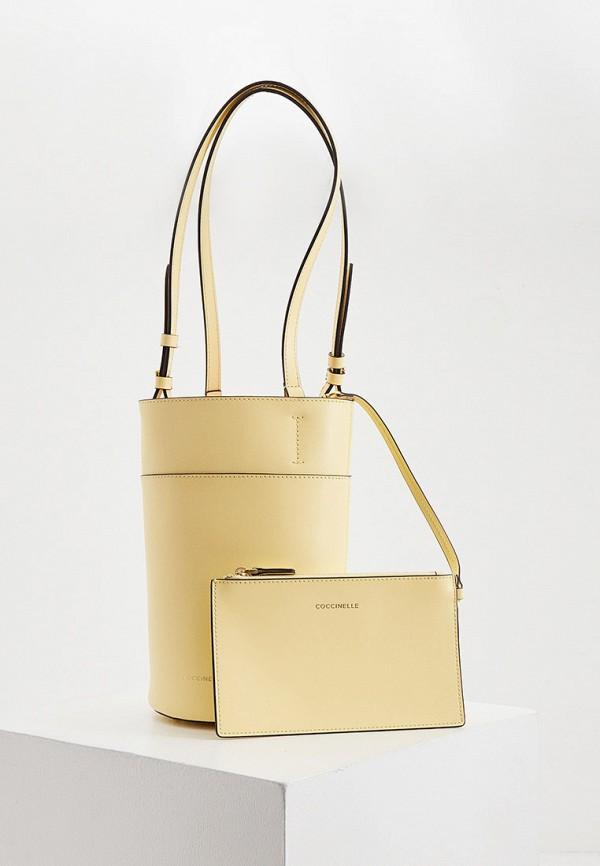 женский кошелёк-ведро coccinelle, желтый