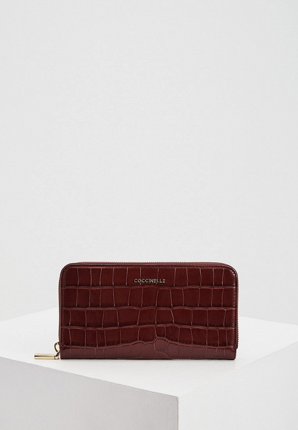 женский кошелёк coccinelle, бордовый