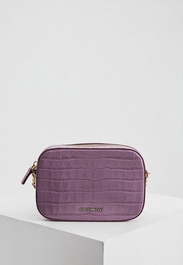 женская сумка coccinelle, фиолетовая